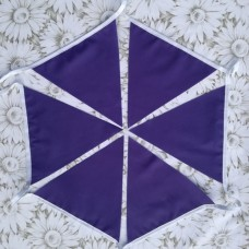 10m Purple Fabric Bunting