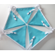 10m Light Turquoise Fabric Bunting