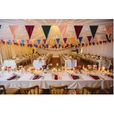 10m Large Pennant (20cmx30cm) Pick And Mix Colours 2 Ply Fabric Bunting