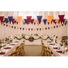 10m Large Pennant (20cmx30cm) Pick Your Colours 1 Ply Fabric Bunting