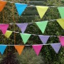 10m Carnival Multi Coloured Fabric Bunting