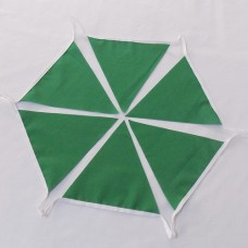 10m Emerald Green Fabric Bunting
