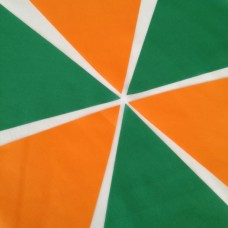 10m Green and Orange Bunting