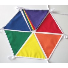 10m Rainbow Colours Fabric Bunting