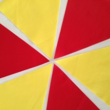 10m Red and Yellow Fabric Bunting