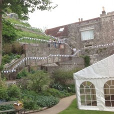 10m White Double Ply Fabric Bunting